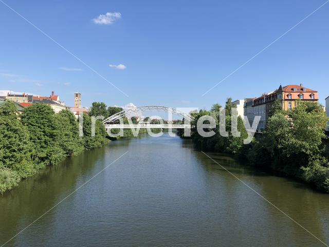 The Regnitz river in Bamberg Germany