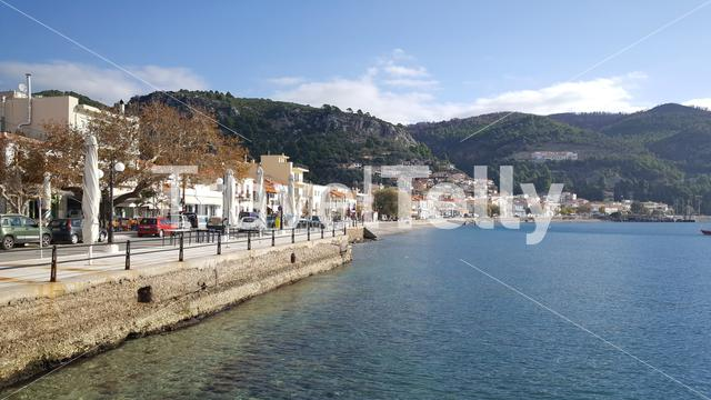 Coastal town Limni in Greece