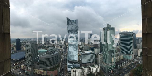 Panorama view from the Palace of Culture and Science in Warsaw