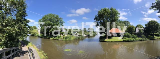 Panorama from the village Bartlehiem in Friesland The Netherlands