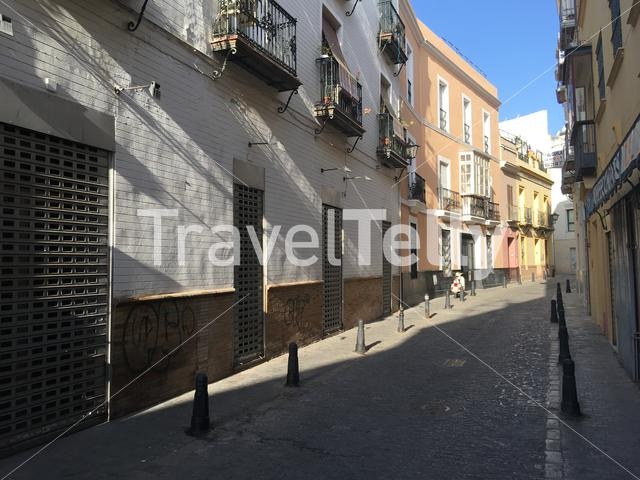 Houses in the streets of Seville Spain