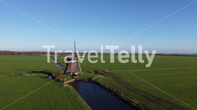 Windmill around Nijemirdum, Friesland The Netherlands
