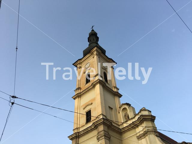 Church in the old town of Cluj-Napoca Romania