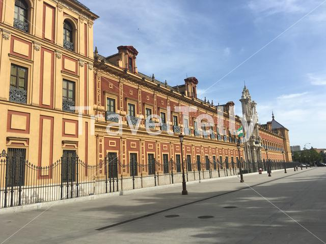 Palacio de San Telmo historical edifice and now the seat of the presidency of the Andalusian Autonomous Government in Seville Portugal