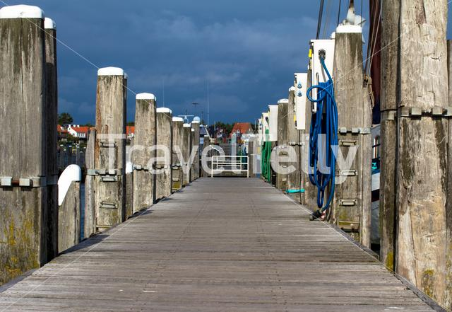 jetty in the harbor of West-Terschelling