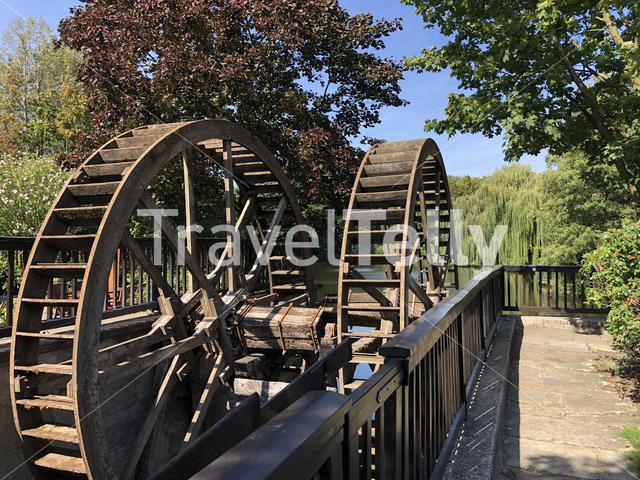 Water wheel in Neuenhaus, Germany