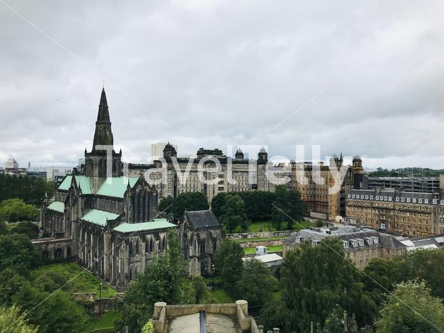 Glasgow Cathedral from the Necropolis in Glasgow, Scotland