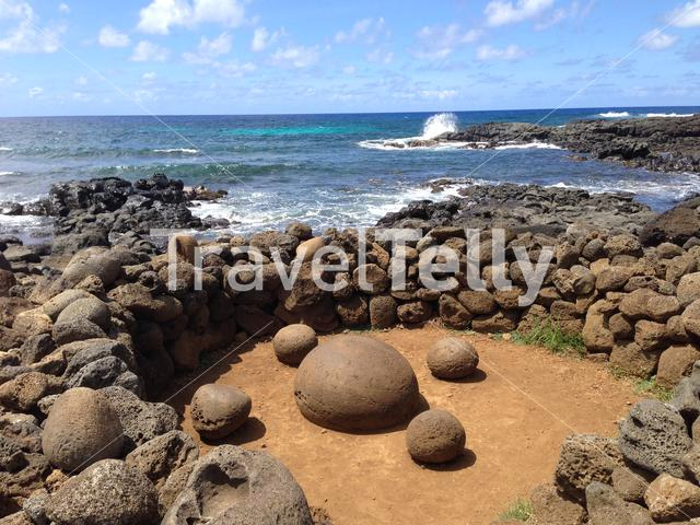 Navel of the world at the Easter Island, Rapa Nui