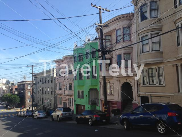 Electricity wires in Vallejo street, San Francisco