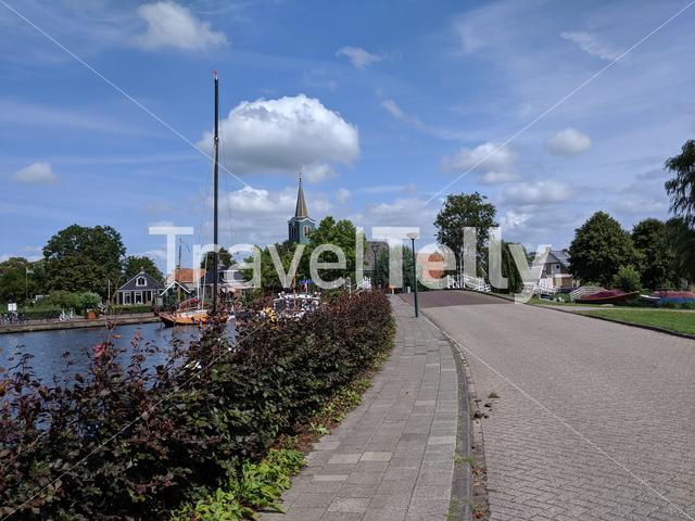 The town Oudega in Friesland The Netherlands