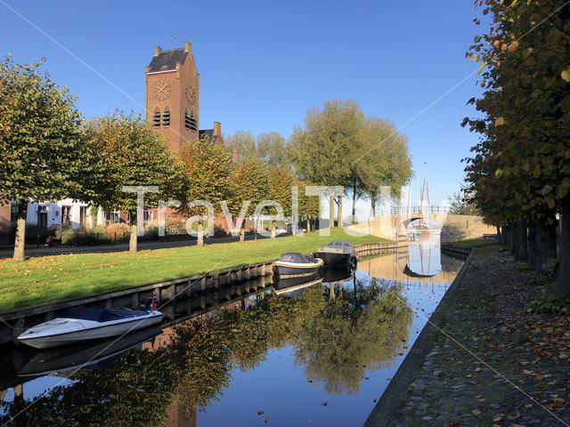 Autumn in Sloten, Friesland, The Netherlands