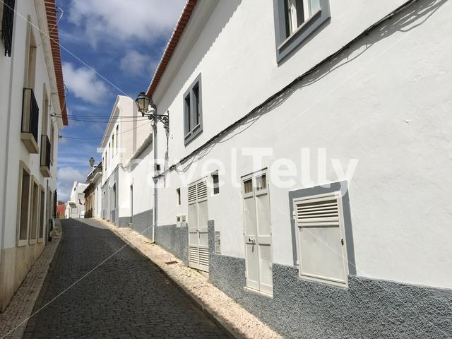 Street in the Old town of Albufeira Portugal