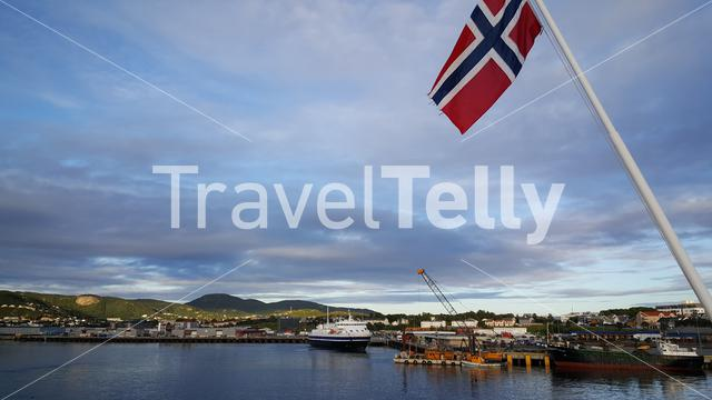 Ferry at the harbour of Bodo Norway