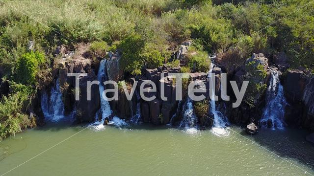 Waterfalls at the Albert Falls Game Reserve in the KwaZulu-Natal province of South Africa