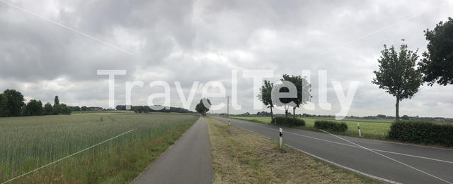 Panorama from the road around Dingden in Germany