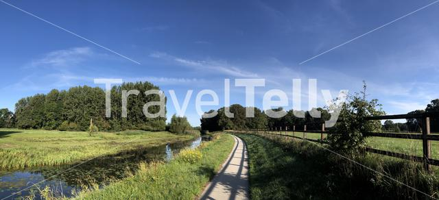 Panorama from nature around Leo-Stichting in Gelderland, The Netherlands