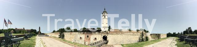 Panorama from the entrance to the Kalemegdan Fortress in Belgrade Serbia