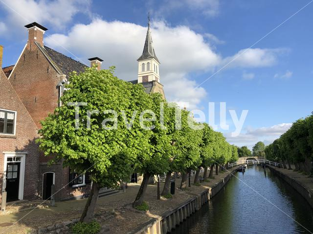 Canal in Sloten Friesland The Netherlands
