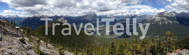 Panoramaview from the Sulphur Mountain, Banff, Canada