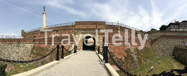 Panorama from King Gate at Kalemegdan Fortress in Belgrade Serbia