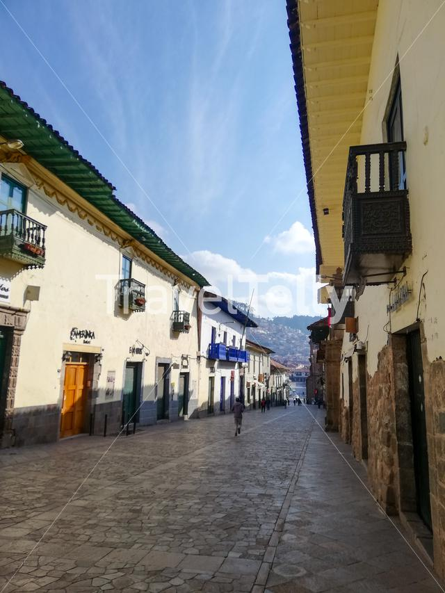 Empty streets of Cusco, early Saturday Morning