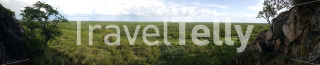 Panorama from Chobe National Park in Botswana