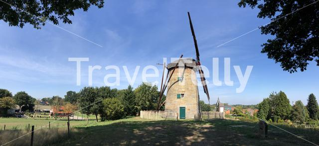 Panoramic view from the windmill in Uelsen, Germany