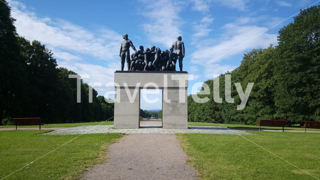 Vigeland's monumental bronze group the Clan in Oslo Norway