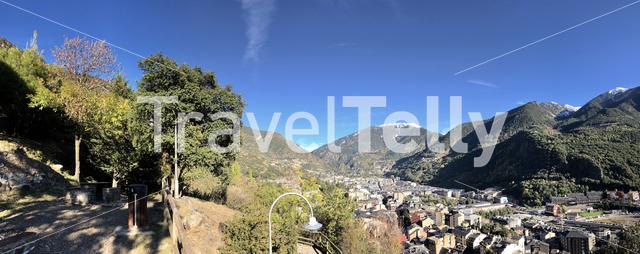 Andorra la Vella panorama city view
