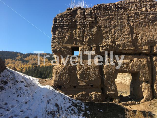 Remains of Manjusri Monastery a former Buddhist monastery in Mongolia