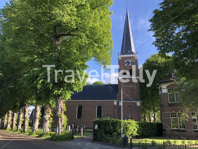 Church in Langweer Friesland The Netherlands