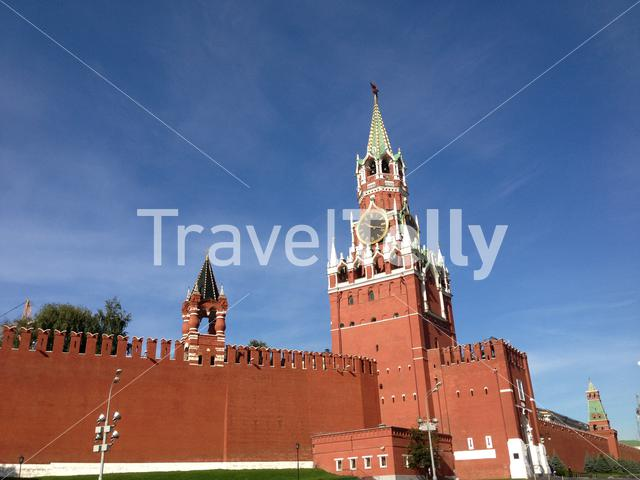 Tower at the Kremlin in Moscow Russia