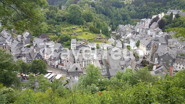 Overview of Monschau from hill top