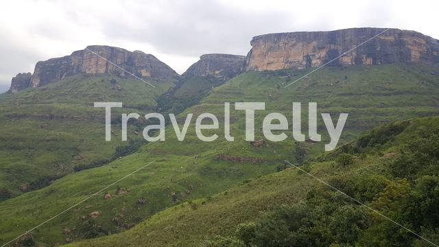 Scenery at Royal Natal National Park in South Africa in South Africa