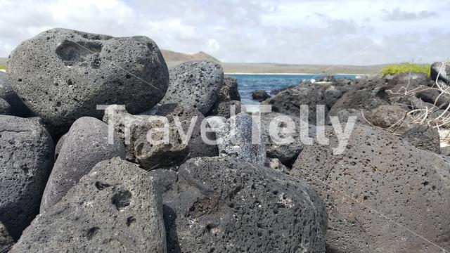 Volcanic rocks close to the shore