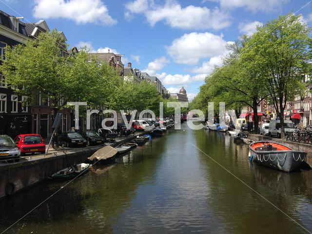 Lijnbaansgracht and Zieseniskade in Amsterdam Holland The Netherlands