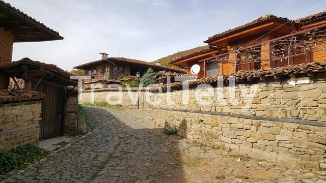 Traditional wooden houses in Zheravna Bulgaria