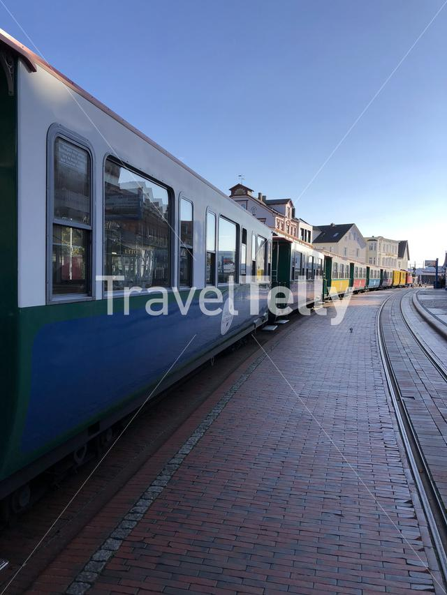 Train on Borkum island in Germany