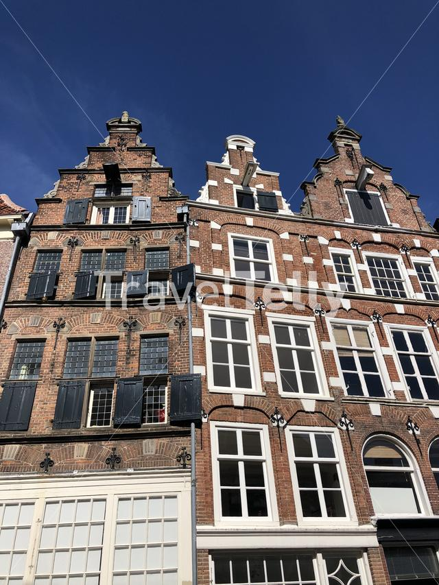 Architecture in the old town of Zutphen, Gelderland The Netherlands