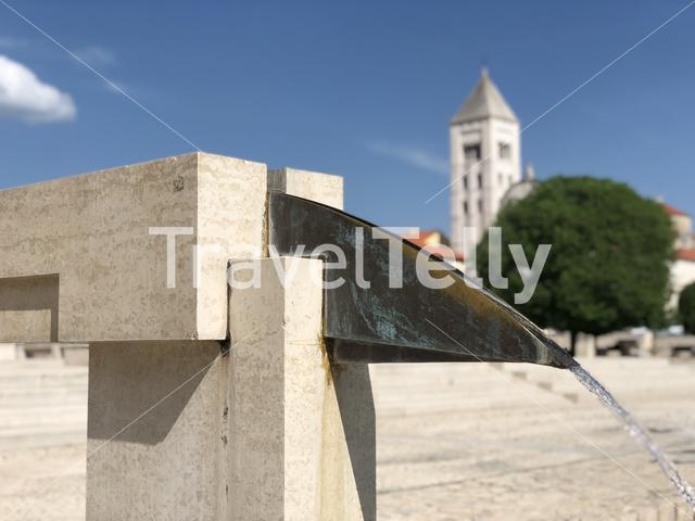 Fountain at the The Roman Forum in Zadar Croatia
