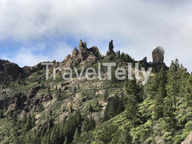 Roque Nublo a volcanic rock on the island of Gran Canaria