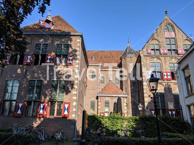 Historical building in the old town of Zwolle, The Netherlands