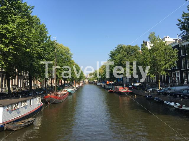 Canal in Amsterdam The Netherlands