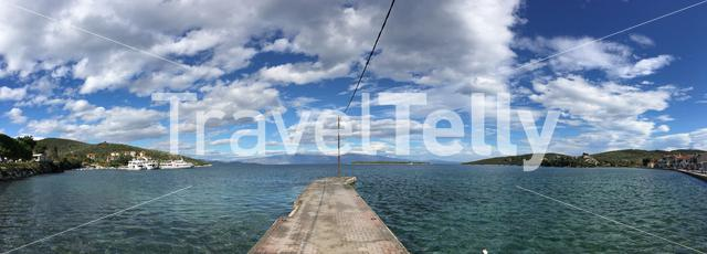 Panorama from the pier in Amaliapoli Greece