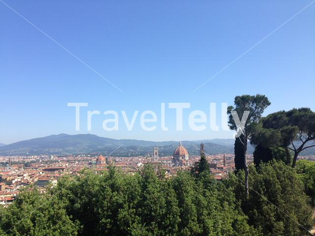 View over Florence from the Forte di Belvedere in Italy