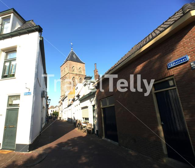 Street in the old town of Kampen The Netherlands