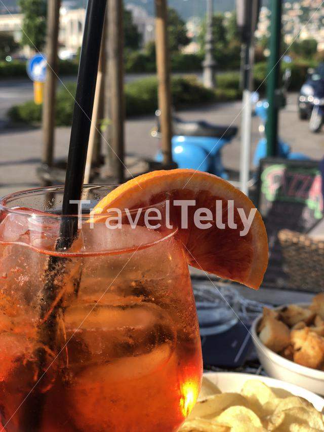 Spritz cocktail in Trieste Italy