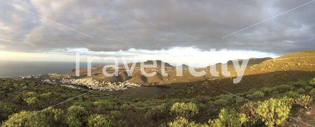 Panorama from Agaete on Gran Canaria