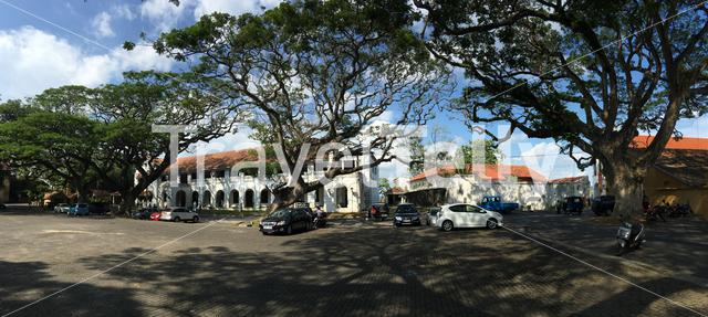 Galle High Court panorama in Sri Lanka