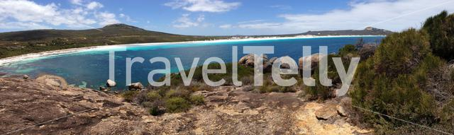 Panorama from Lucky Bay at Cape Le Grand National Park Australia